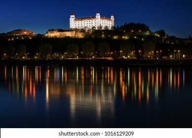 Bratislava castle in night , Bratislava, Slovakia