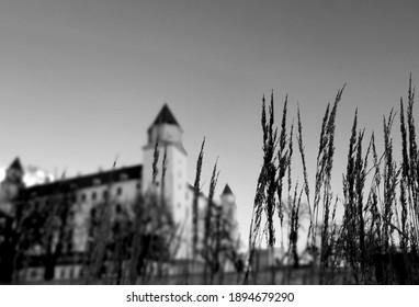 Bratislava Castle, Slovakia in BlackWhite