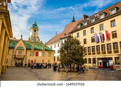 Bratislava City Museum on Primate Square - Bratislava, Slovakia, Europe - Shutterstock ID 1649537926