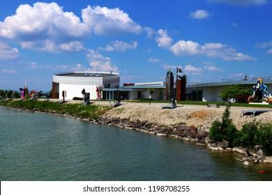 Bratislava – Cunovo, Slovakia – June 14, 2018: Danubiana Meulensteen Art Museum