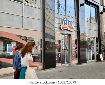 Bratislava, Slovakia/August  23,2019:DM store  in Bratislava. dm-drogerie markt is a chain of retail stores sells cosmetics, healthcare items, household products and health food.