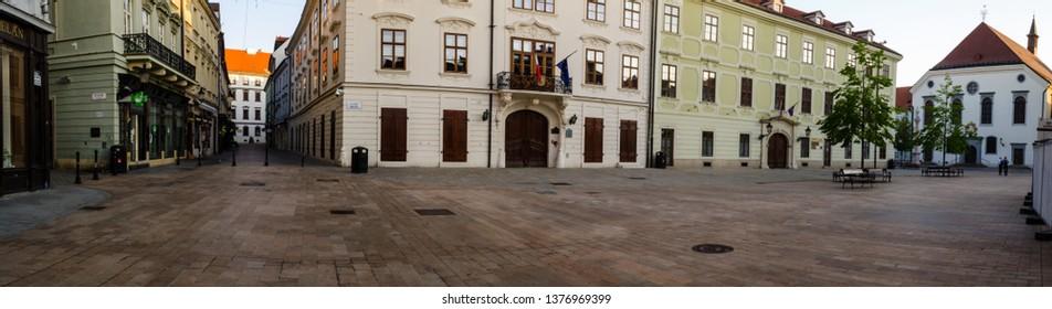 Bratislava Main Square Panorama
