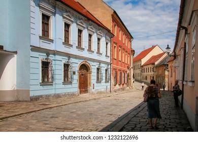 Bratislava - Slovakia - 06-06-2010: street with old buildings in the historic centre of Bratislava