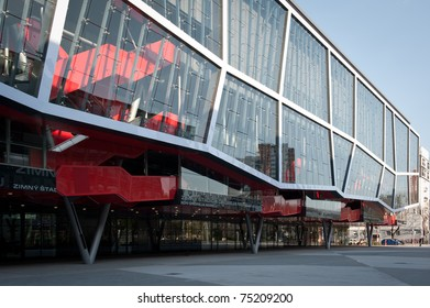 BRATISLAVA, SLOVAKIA - APRIL 9: Ondrej Nepela Arena - after long and expensive reconstruction hosting venue is ready for the International Ice Hockey World Championship on April 9, 2011 in Bratislava, Slovakia