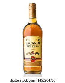 BRATISLAVA, SLOVAKIA - august  5, 2016, bottle of Bacardi reserva rum