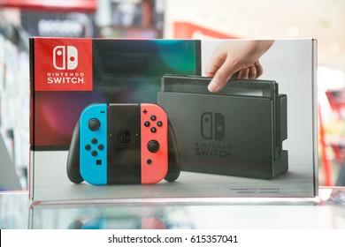 Bratislava, Slovakia, circa april 2017: Nintendo Switch video game console