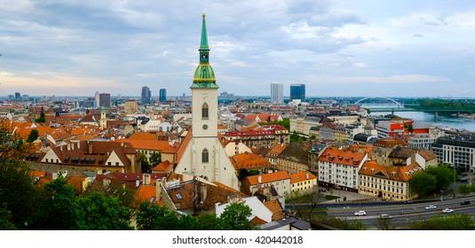 Bratislava, Slovakia day time cityscape