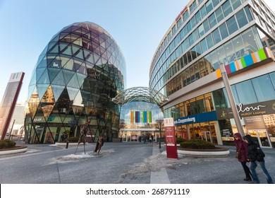 BRATISLAVA, SLOVAKIA - JANUARY 6, 2015: Galleria Eurovea shopping centre.