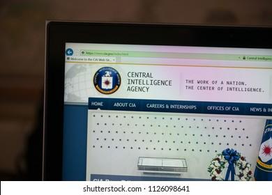 Bratislava, Slovakia, July 3, 2018: Central Intelligence Agency (CIA) web page on laptop screen