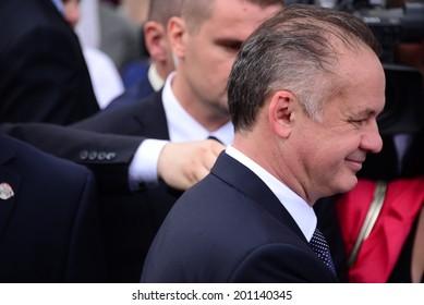 BRATISLAVA, SLOVAKIA - JUNE 15, 2014 Presidential inauguration of Andrej Kiska on June 15, 2014 in Bratislava, Slovakia.
