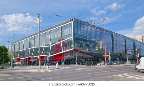 BRATISLAVA, SLOVAKIA - MAY 10, 2017: Ondrej Nepela Arena in Bratislava, a winter stadium used for sport and musical events, fully reconstructed in spring 2011.