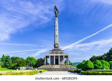 BRATISLAVA, SLOVAKIA - MAY 17: Slavin - memorial monument and memorial cemetery in Bratislava on May 17, 2017 in Bratislava