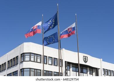 Bratislava, Slovakia. May 2017. The Slovak parliament palace.