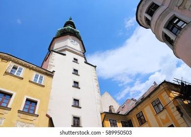 Bratislava, Slovakia. Medieval Saint Michael's Gate tower.
