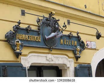 Bratislava / Slovakia - October 7, 2015: Museum of Pharmacy. Pharmacy At the Red Crayfish. The Museum of Pharmacy is housed in a part of a former pharmacy called the Red Crayfish.