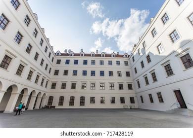 Bratislava, Slovakia - September 10, 2017: Bratislava Castle , capital Bratislava, Slovakia