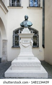 Bratislava, Slovakia, September 2016 - Romer Floris monument in the Old Town Hall courtyard in the ancient city of Bratislava, Slovakia