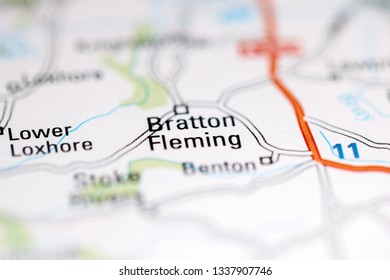 Bratton Fleming. United Kingdom on a geography map