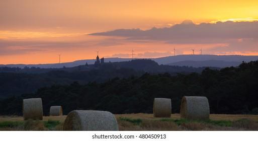 braunfels castle germany landscape sundown