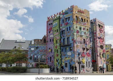 Braunschweig, Germany - August 23, 2014: The Happy Rizzi House by James Rizzi