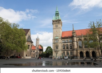 BRAUNSCHWEIG, GERMANY - MAY 4:  Rathaus (city hall) in Braunschweig, Niedersachsen, Germany, on May 4, 2011. Braunschweig was a powerful and influential centre of commerce in medieval Germany