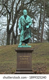 Braunschweig, Germany. Monument to the German mathematician and scientist Carl Friedrich Gauss in his birthtown. The monument was unveiled in 1877 to commemorate the 100th annyversary of Gauss.