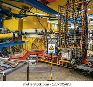 Braunschweig, Lower Saxona, Germany, August 8., 2018: Cyclotron of the PTB particle accelerator for the emission of neutrons