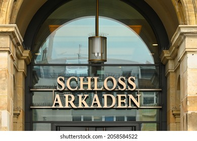 BRAUNSCHWEIG, LOWER SAXONY, GERMANY - OCTOBER 14, 2021: Schloss Arkaden, Palace Arcades in Braunschweig, Germany. Downtown shopping center, shopping mall.