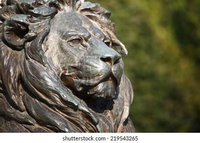 Brave lion head, Statue of general Klapka, Komarno, Slovakia