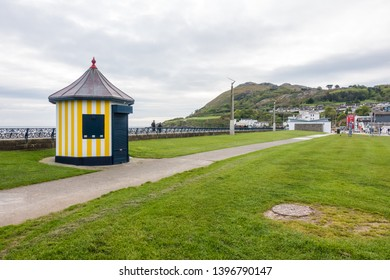 Bray, County Wicklow/ Ireland/ 08.05.2019: Bray Promenade in Ireland
