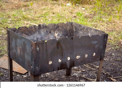 Brazier for cooking kebabs in nature