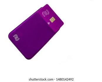 Brazil - August 16, 2019: Nubank credit card new design