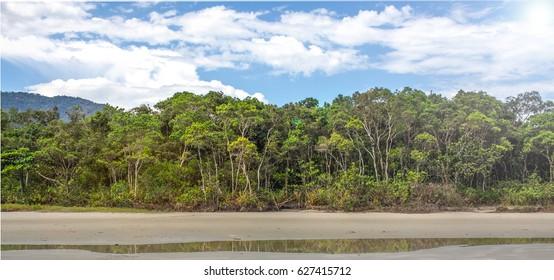 Brazil beach near ubatuba