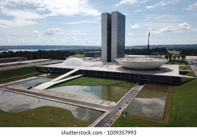 BRAZIL, BRASILIA MARCH 04, 2018 National Congress, Aerial View