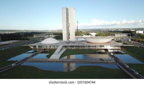 BRAZIL, BRASILIA MARCH 23, 2018 National Congress, Aerial View