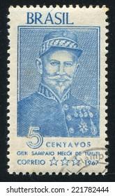 BRAZIL - CIRCA 1967: stamp printed by Brazil, shows  General Sampaio, circa 1967