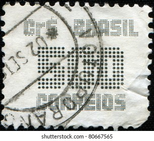 BRAZIL - CIRCA 1985: A stamp printed in Brazil shows image of the dedicated to the Postage Stamp Cost 500, circa 1985