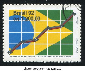 BRAZIL - CIRCA 1992: stamp printed by Brazil, shows  Brazillian Program for Quality and Productivity, circa 1992