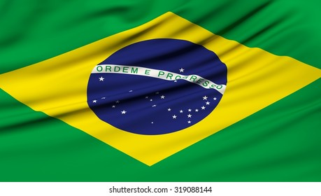 Brazil Flag. 3d illustration