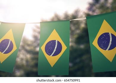 Brazil flag pennants