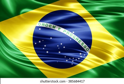 Brazil flag of silk