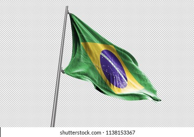 Brazil Flag waving stock Image