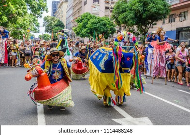 "Belém, Pará, Brazil. Folklore group ""Arraial do Pavulagem"" presents on the streets of the city of Belém, in June 2016."