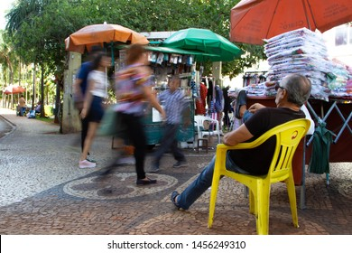 brazil, goiania city, people interacting with the city. year 2019 month June.