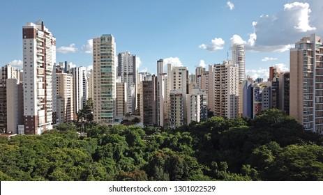 BRAZIL, GOIAS, GOIANIA January 14, 2019, City View from Vaca Brava Park, Aerial View