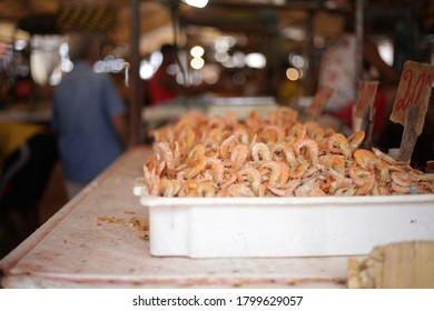 Belém, Brazil - Jul 2020: regional products from the amazon sold at Ver-o-Peso, the largest open market in latin america.