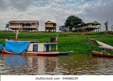 Brazil Manaus Amazonas houses boats