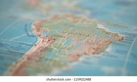 Brazil on the map. Brazil on the world map.