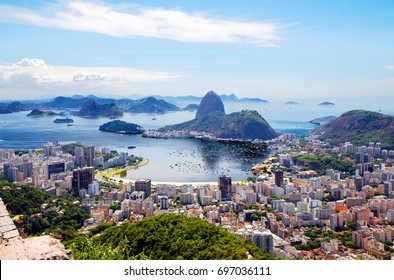 Brazil. Rio de Janeiro. General view of the city.  Rio de Janeiro is a splendor of bright colors and a perpetual carnival, the ocean and endless sun.