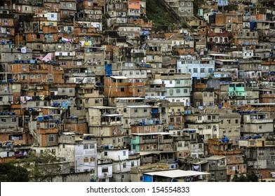 Brazil, Rio de Janeiro, view of the Favela de Cantagalo